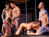 Fucked Down – Five Man Orgy Part 01