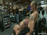 Bound In Public: Young Stud Is Bound For The First Time At Mr. S Leather