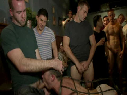 Watch Bound In Public: Stud In A Metal Cage Is Fucked By Horny Bar Patrons (Adult Entertainment Broadcast Network) Gay Porn Tube Videos Gifs And Free XXX HD Sex Movies Photos Online