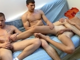 Oral Threesome Of Uncut Europeans! – Alex Page, Danny And James Clay Osborne