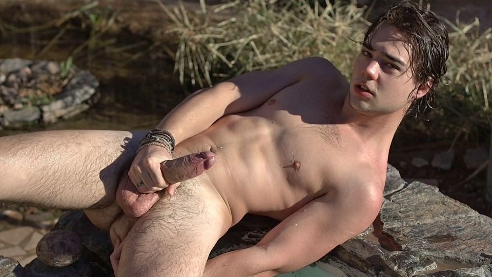 cumshot gay outdoors